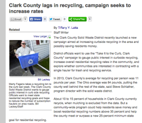 Clark County lags in recycling, campaign seeks to increaserates